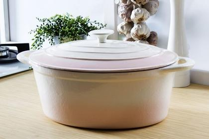 Salix Garnek / Brytfanna żeliwna Oval Cream 6,5 L