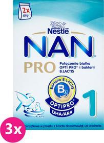 Nestle 3x NAN PRO 1 800g