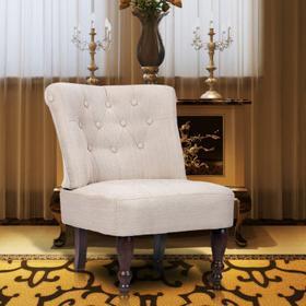 Fotel francuski, kremowy