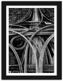 Feeby Drogowa pętla, Obrazy w ramie - Czarny