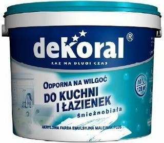Dekoral Farba odporna na wilgoć Maleinak Plus 3L - Farba odporna na wilgoć Dekor