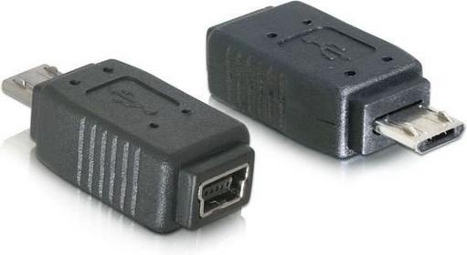 Delock Adapter USB mini f- USB mikro m +nikiel (65063)