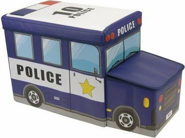 Pojemnik na zabawki - skrzynia, siedzisko - policja M05000020