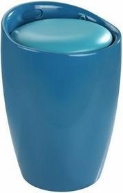 Wenko Pufa CANDY - kosz na pranie, 2 w 1 - jasnoniebieski 4008838206256