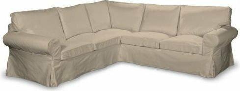 Dekoria Pokrowiec na sofę Ektorp narożną Cotton Panama 702-01