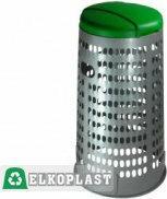Elkoplast Stojak na worki na odpady ECO TRESPOLO 110L - szary pojemnik, zielona
