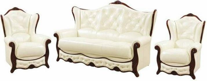 Resto Design Sofa 3R + 2x Fotel FLORENCE skóra naturalna
