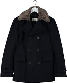 Pier One Płaszcz wełniany /Płaszcz klasyczny niebieski PI922H005-K11