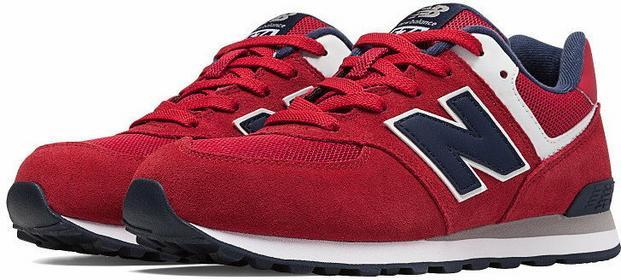New Balance KL574PEG czerwony
