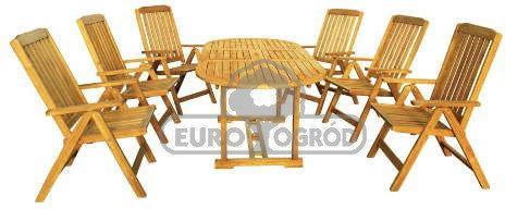 Hecht Meble Ogrodowe Leader Set Stół + 6 Krzeseł 8594061748343