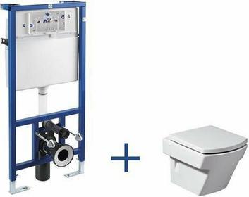 Roca Hall - Zestaw podtynkowy (miska wc podwieszana + stelaż podtynkowy Do kompaktu WC 3/6 l (zabudowa lekka) z zestawem montażowym oraz kolankiem odpływowym 90/110 mm) A89009000H