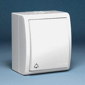 Kontakt Simon - Aquarius - Łącznik dzwonkowy natynkowy IP44 biały AQD1/11