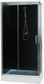 Savana Livia 100x70 profil chrom szkło grafitowe + brodzik Y9003B