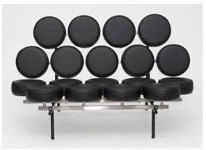 D2 Sofa MM czarna skóra 2200000004642 loft