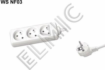Elmic Przedłużacz elektryczny listwa bez włącznika - 3.0 mb - WS NF 03 / 3.0 / 1.0 / K
