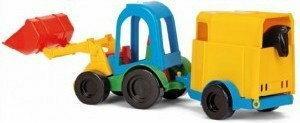 Wader Traktor z łyżką oraz z przyczepą i koniem