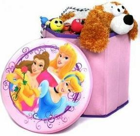 Disney Taboret - Pojemnik na zabawki - Księżniczki 8714143792433