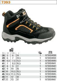 Buty do pracy i rekreacji typu trekking zamszowe, z wstawkami z siateczki nylonowej, z podeszwą z gumy