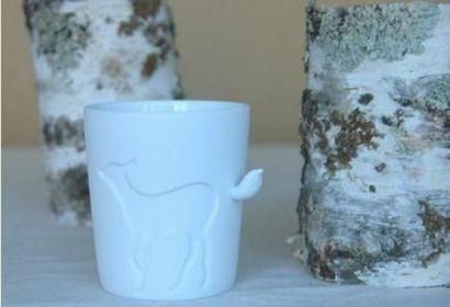 Porcelanowy Kubek z ogonkiem - jelonek