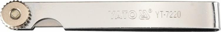 YATO Szczelinomierz 100 mm, 17 listków, 0,02-1 mm YT-7220