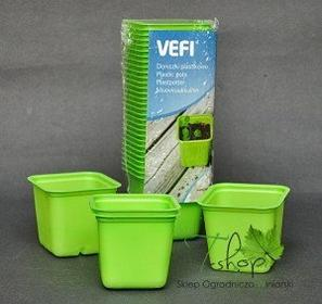 VEFI Doniczki plastikowe 30 szt. zielone