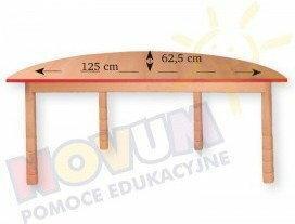Novum Stół z dokrętkami prostymi - półokrągły