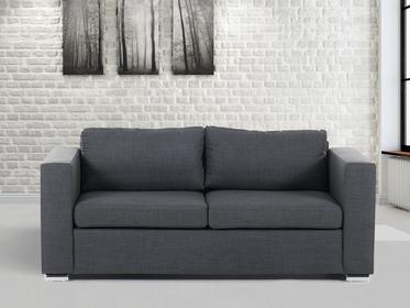 Beliani Sofa ciemnoszara - trzyosobowa - Kanapa - sofa tapicerowana - HELSINKI c