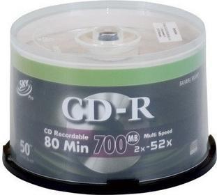 PŁYTY CD-R SKY 50 SZT
