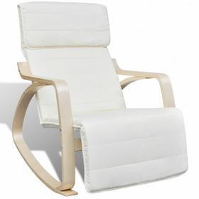 Kremowy regulowany Fotel bujany