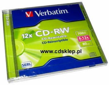 Verbatim CD-RW x4-x12 700MB (pudełko box)