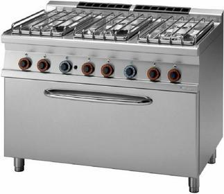 RM Gastro Kuchnia gazowa z piekarnikiem gazowym 3x GN 1/1 CF6 - 712 G/P