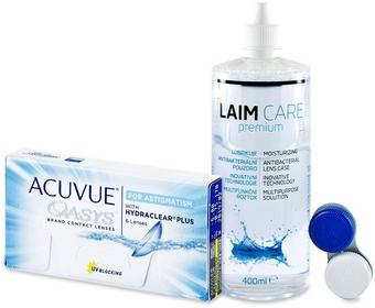 Johnson&Johnson Acuvue Oasys for Astigmatism 6szt. + płyn Laim-Care 400ml