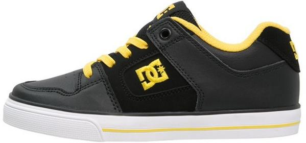 DC Shoes PURE Buty skejtowe black/yellow ADBS300147