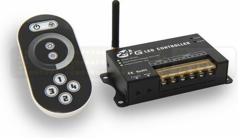 Inny Kontroler - Ściemniacz LED 2.4G 12V 24A + pilot dotykowy 243110