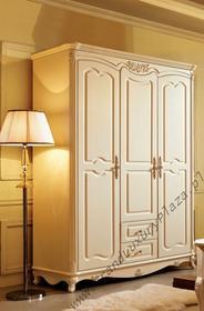 Import Stylowa szafa 3-drzwiowa zdobiona 905, seria BELLA ROSA