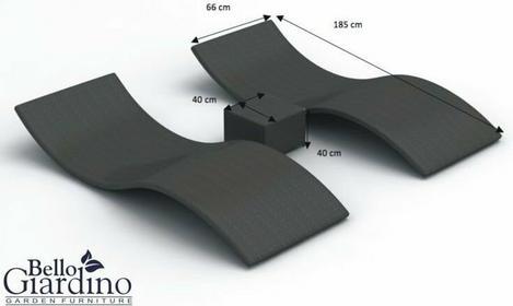 Bello Giardino Leżanki ogrodowe SUCCESSO LO004001