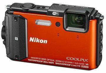 Nikon Coolpix AW130 pomarańczowy