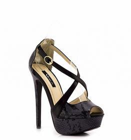 Czarne sandały Black Sandals Odile czarny
