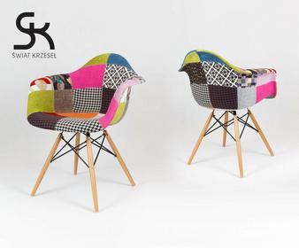 Świat Krzeseł KR012F TAPICEROWANE krzesło fotel MONDI inspirowane Eames Eiffel KR012F PAT