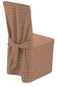 Dekoria Sukienka na krzesło mała różowo-zielona krateczka, 45x94 cm, Bristol