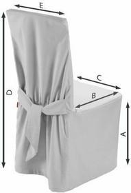 Dekoria Sukienka na krzesło Linen biały