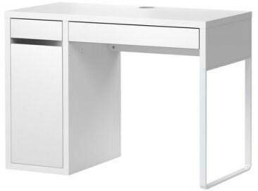 Biurko komputerowe z szufladą i szafką, biały 0006_802.130.74