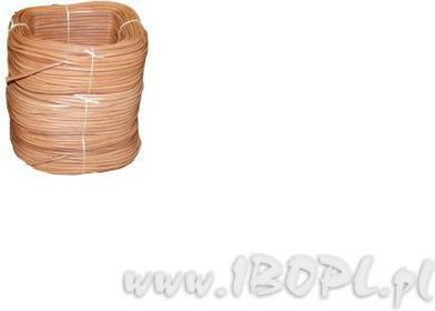 ZUBÍČEK Sznurek skórzany, owalny - kolor naturalny 3mm ZU-