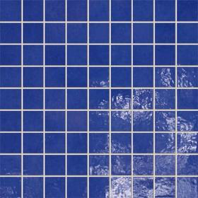 Tubądzin Majolika Mozaika 30,1x30,1 Niebieski 15 Poler