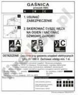 Etykieta agregatu ASTG 12 BC BP 043410