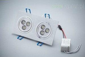 Oprawa Sufitowa LED 2*3x1W