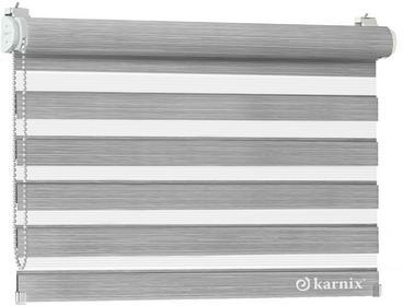 Karnix Mini roleta Dzień Noc LISA NATURE - alpine / Bialy