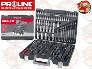 Proline 58217 Zestaw kluczy 1/4, 3/8, 1/2cala 3.5-32mm i płasko - oczkowy 8-19mm