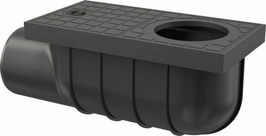 Alcaplast Wpust deszczowy uniwersalny 300 x 155/110 boczny, czarny AGV3