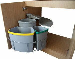Wysuwany Kosz do segregacji odpadów B50/3/1 SEGAB5031